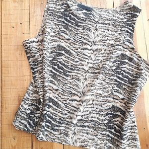 vintage animal print tank top blouse